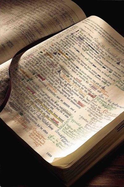 Библия исписанная