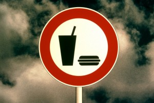 10 Sep 1997 --- Highway Sign For Fast Food Restaurant --- Image by © TH Foto/the food passionates/Corbis